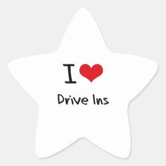 I Love Drive Ins Sticker
