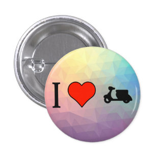 I Love Driving A Scooter 1 Inch Round Button