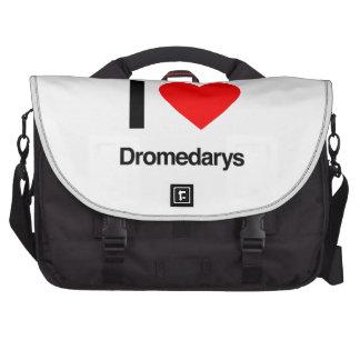 i love dromedarys laptop messenger bag