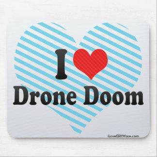 I Love Drone Doom Mouse Pads