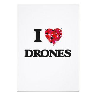 I love Drones 5x7 Paper Invitation Card