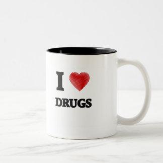 I love Drugs Two-Tone Coffee Mug