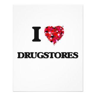 """I love Drugstores 4.5"""" X 5.6"""" Flyer"""