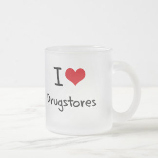 I Love Drugstores 10 Oz Frosted Glass Coffee Mug
