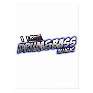 I Love DRUM and BASS music Postcard