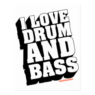 I Love Drum And Bass Postcard