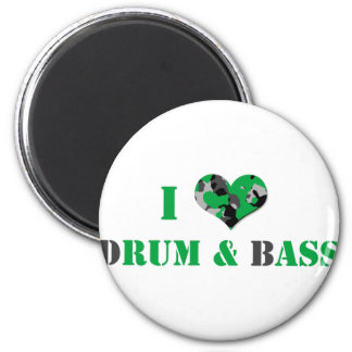 I love dRUM & bASS (Green) Magnet