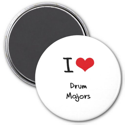 I Love Drum Majors Refrigerator Magnets