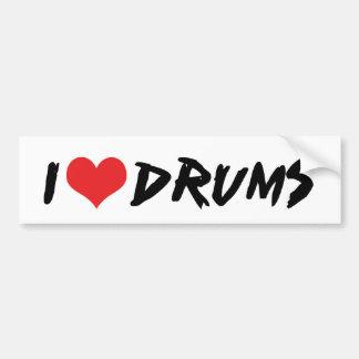 I Love Drums Bumper Sticker