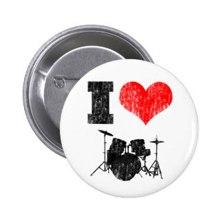 I Love Drums Pinback Button