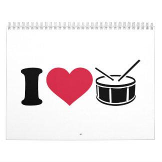 I love drums calendar
