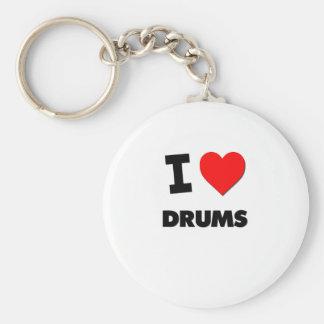 I Love Drums Keychain