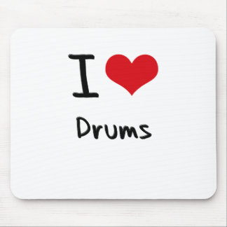 I Love Drums Mouse Pad