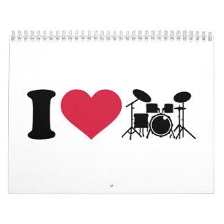 I love drums percussion calendar