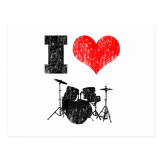I Love Drums Postcard