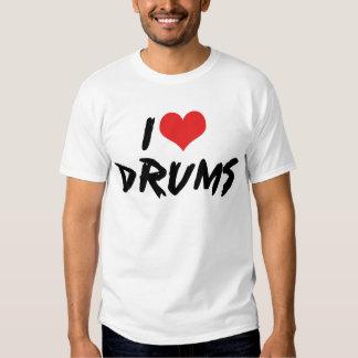 I Love Drums T Shirt