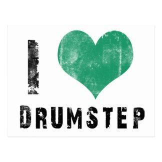 I Love Drumstep Postcard
