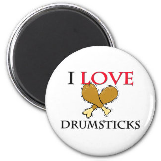 I Love Drumsticks Magnet