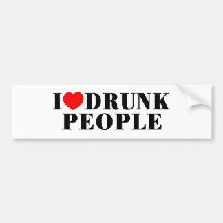 I Love Drunk People Bumper Sticker