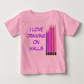 I love drwing on walls shirt
