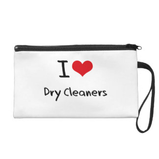 I Love Dry Cleaners Wristlet Clutch