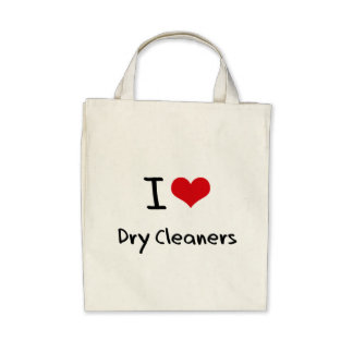 I Love Dry Cleaners Canvas Bag