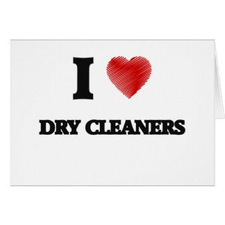 I love Dry Cleaners Card