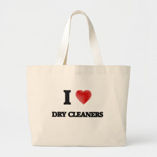 I love Dry Cleaners Large Tote Bag