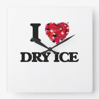 I love Dry Ice Square Wallclock