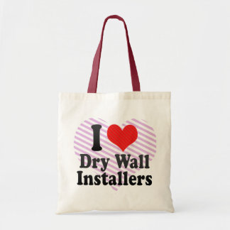 I Love Dry Wall Installers Canvas Bags
