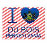 I Love Du Bois, PA Postcard