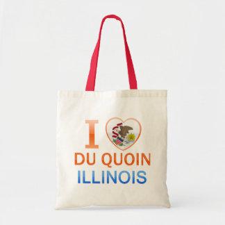I Love Du Quoin, IL Bolsa Lienzo