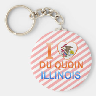 I Love Du Quoin, IL Llavero Personalizado