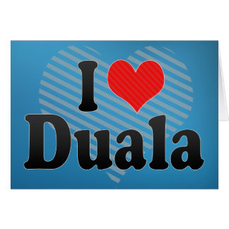 I Love Duala Card