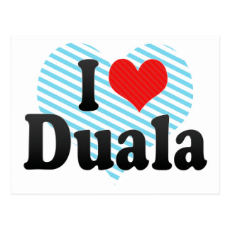 I Love Duala Postcard