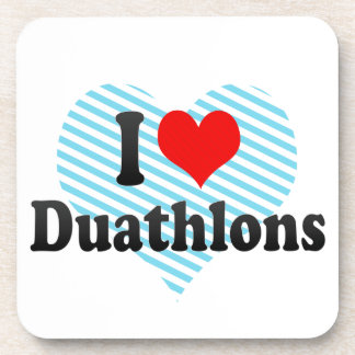 I love Duathlons Drink Coaster