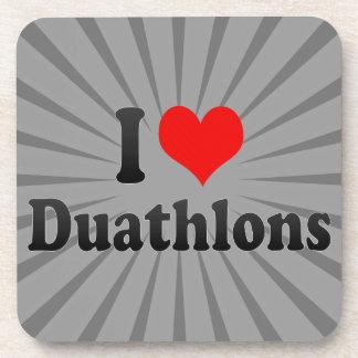 I love Duathlons Beverage Coasters