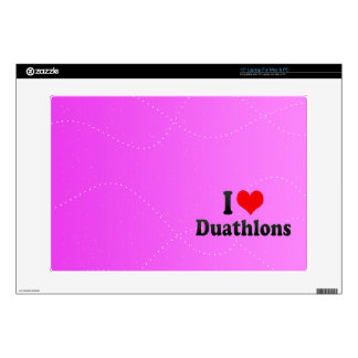 I love Duathlons Laptop Decal