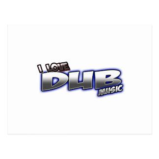 I Love DUB music Postcard