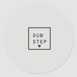 I Love Dub Step Classic Round Sticker