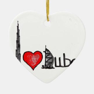 I love Dubai Ceramic Ornament