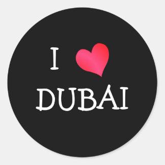 I Love DUBAI Classic Round Sticker