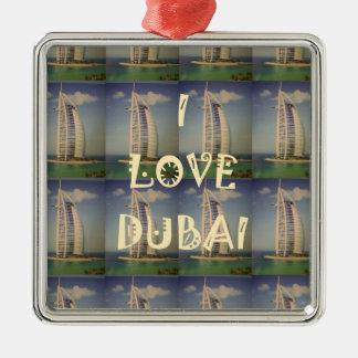 I Love Dubai Metal Ornament