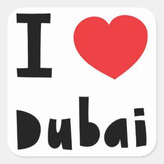 I love Dubai Square Sticker