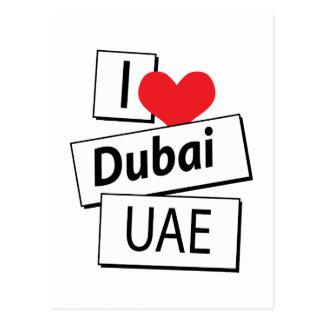 I Love Dubai UAE Postcard