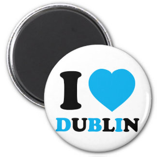 I Love Dublin 2 Inch Round Magnet