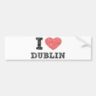 I Love Dublin Bumper Sticker
