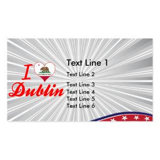 I Love Dublin, California Business Card Templates