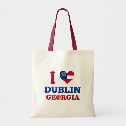 I Love Dublin, Georgia Budget Tote Bag