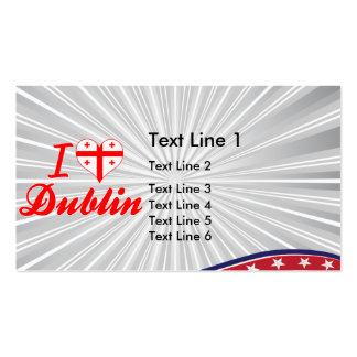 I Love Dublin, Georgia Business Card Templates